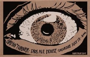 Gregg Turner Taos Ale House Poster