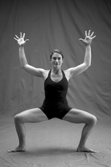 Suki Dalury in Utkata Konasana, by Zoe Zimmerman for Sundara Studios 2013