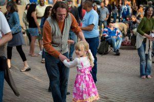 Dancing at Taos Plaza Live, Taos NM