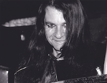 The author in the 90s, during his goth days
