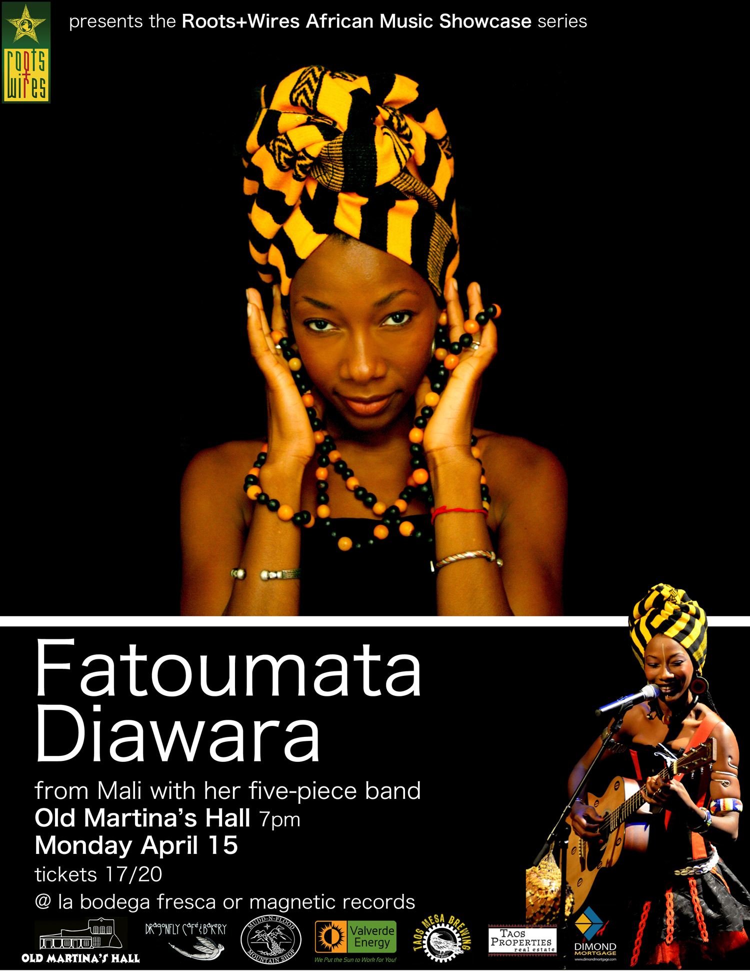 Bringing People Together: Roots + Wires + Fatuomata Diawara - Live Taos