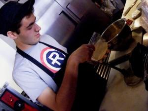 Pachin Guevara makes tortillas