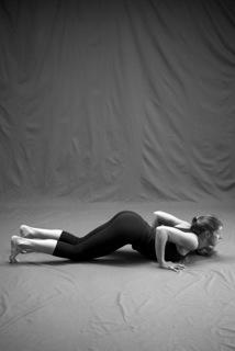 Genevieve Oswald in Ashtangasana, Eight-Limbed Pose - Photo credit Zoe Zimmerman, Sundara Studios* 2013