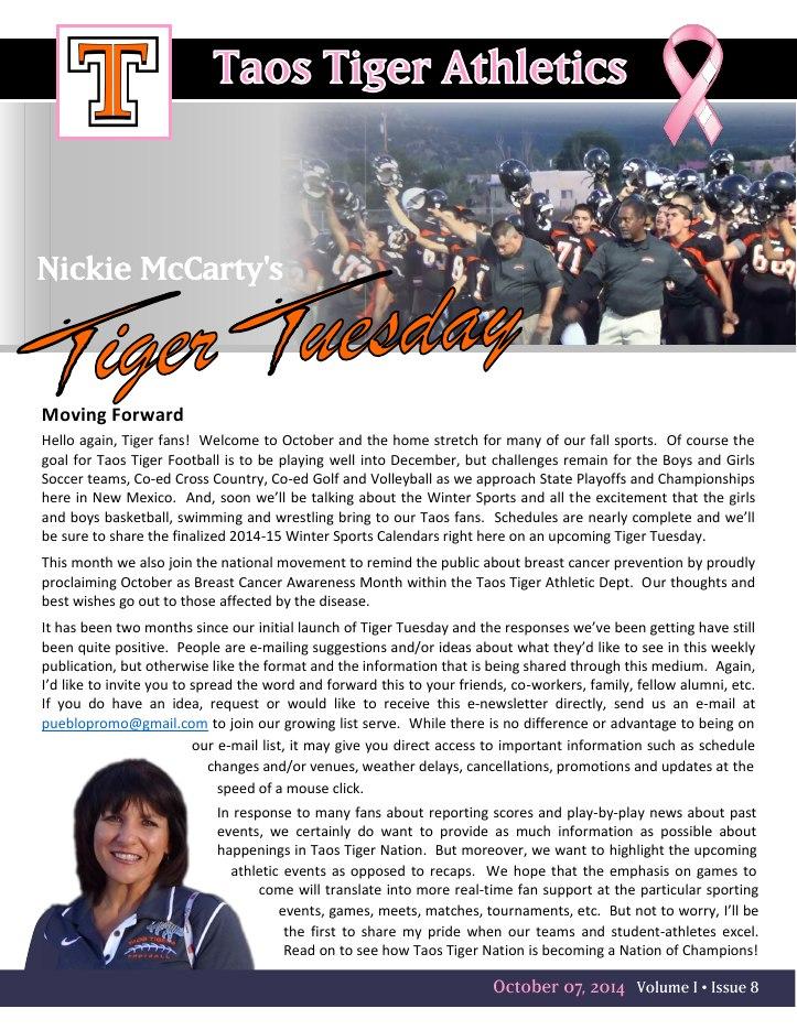 Taos Tiger Tuesday - October 07, 20141