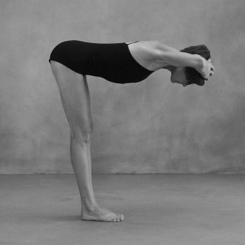 Kelly Igoe in Ardha Uttanasana, by Zoe Zimmerman for Sundara Studios 2014