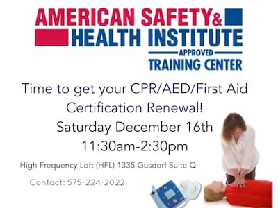 CPR/AED/First Aid Certification Class - Live Taos Events Calendar