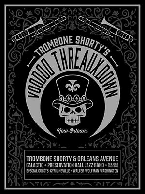 VOODOO THREAUXDOWN: featuring Trombone Shorty, Galactic, and many more